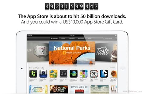15 App Store Gift Card - apple to offer 10 000 app store gift card to 50 billionth app downloader