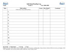 reading log template for middle school reading log for highschool students template best photos