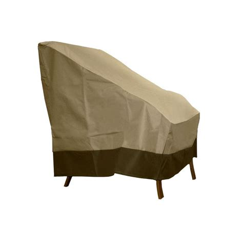 high back patio chair covers patio armor taupe polyester high back patio chair