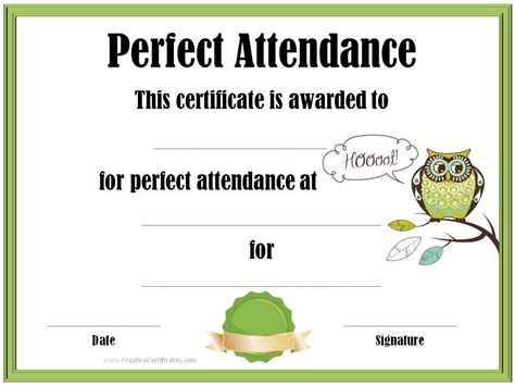 attendance certificate template free attendance award cake ideas and designs