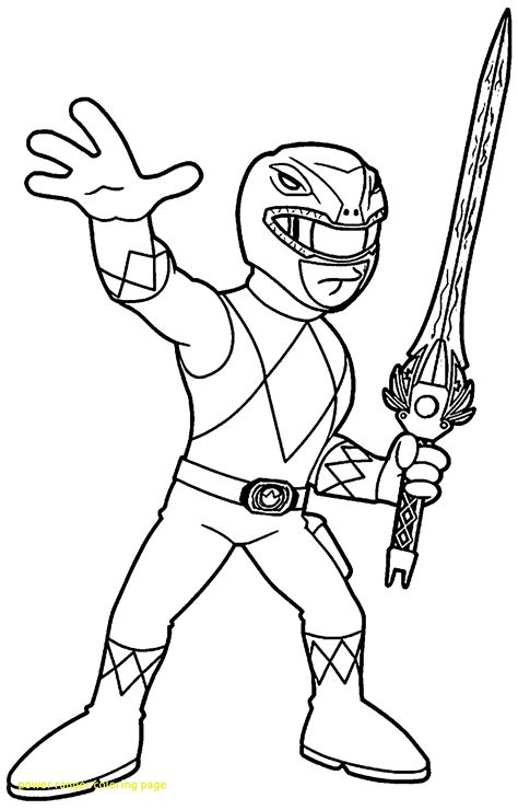 power rangers halloween coloring pages power ranger coloring page with mighty morphin power