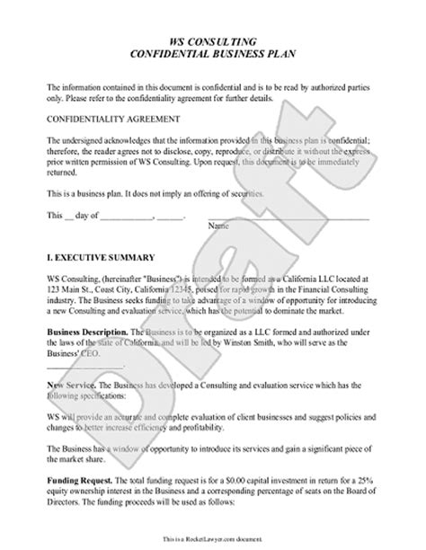 Llc Business Plan Template Business Plan Template Customize And Print Your Form
