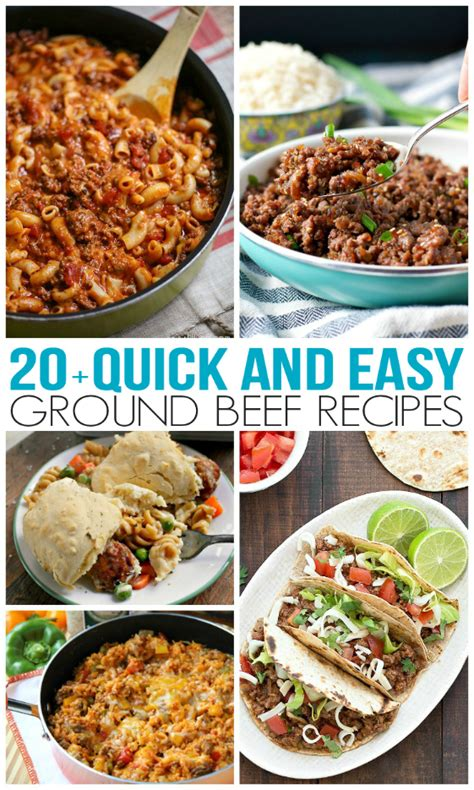 dinner ideas for hamburger meat and easy ground beef recipes family fresh meals