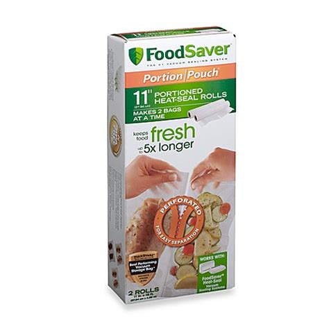 foodsaver bed bath and beyond foodsaver 174 freshsaver 174 portion pouch 11 quot roll bed bath