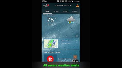 weatherbug for android weatherbug for android v4 0 5
