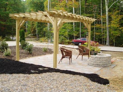 pergola with fire pit outdoor entertaining design