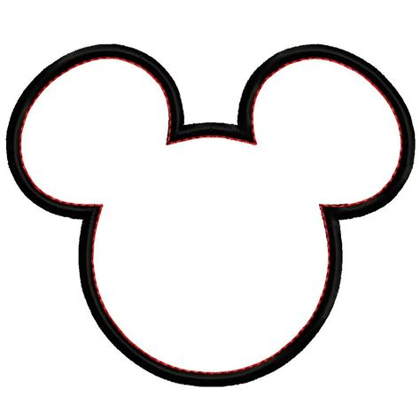 mickey mouse silhouette template mickey silhouette cliparts co