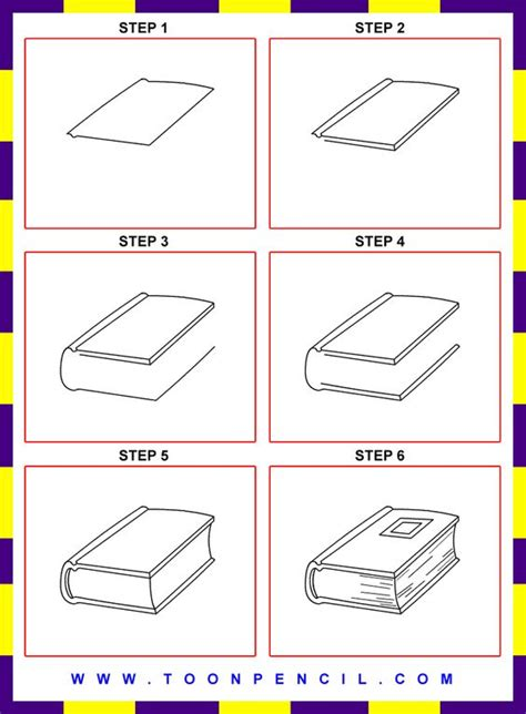 how to draw books how to draw a book step by step for search