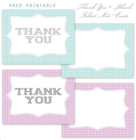 printable thank you cards free no download home creature comforts daily inspiration style diy