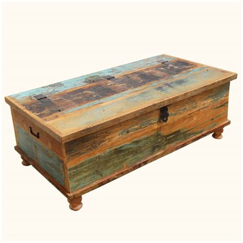 Distressed Coffee Table Oklahoma Farmhouse Reclaimed Wood Distressed Coffee Table Storage Box