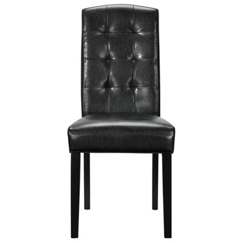 Black Tufted Dining Chairs Perdure Tufted Dining Chair Wood Legs Black Dcg Stores