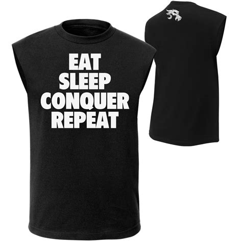 Tshirt Eat Sleep Conquer Repeat brock lesnar quot eat sleep conquer repeat quot t shirt