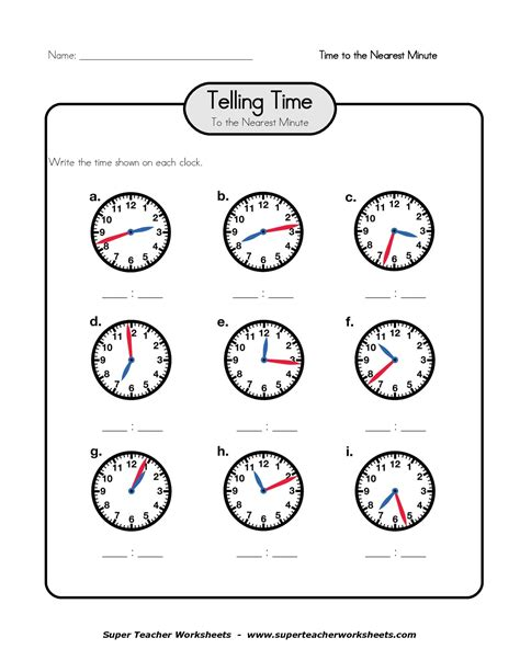 printable telling time sheets free clock telling time worksheet printable printable