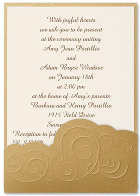 Paper Direct Wedding Invitations by Wedding Invitations Etiquette Wording Paperdirect