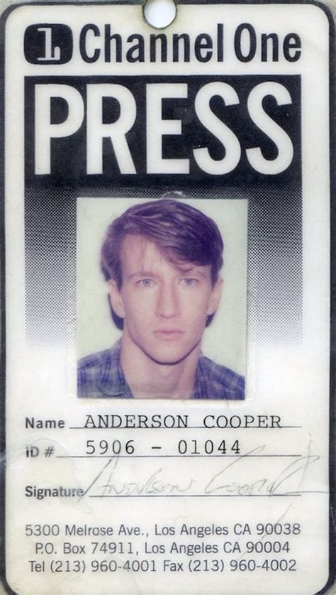 Chann Cooper cooper s identification card for channel one news