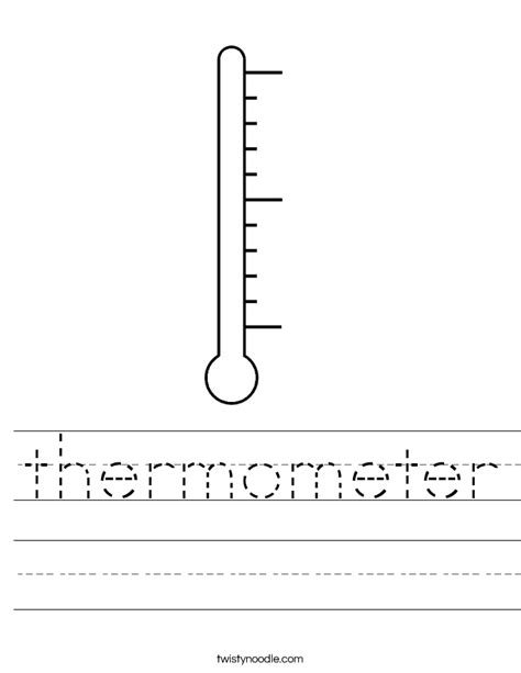 thermometer worksheet twisty noodle