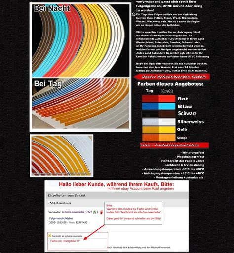 Felgenaufkleber Erstellen by Reflektierende Felgenrandaufkleber Blau Ebay