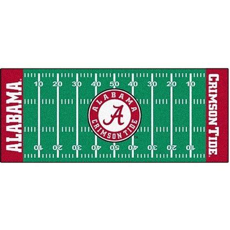 Football Field Area Rug Alabama Crimson Tide 30 Quot X 72 Quot Football Field Runner Area Rug Floor Mat Alabama Football And