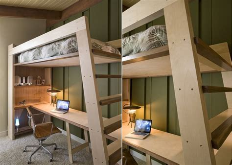 loft bed with built in desk bed desk combos save space and add interest to small rooms