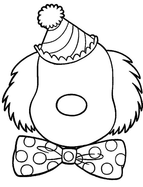 evil clown face coloring page coloring pages