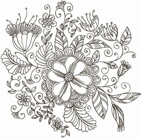 flower doodle ai line flower pattern gallery