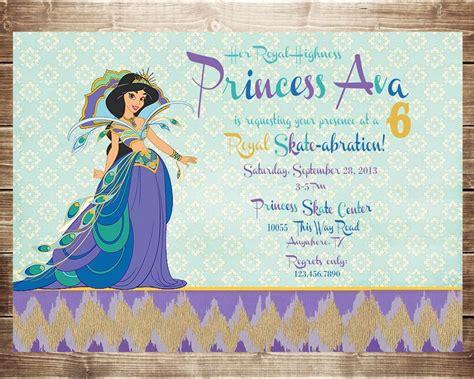 printable jasmine birthday invitations princess jasmine party invitations home party ideas