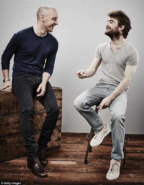 james mcavoy wanted workout daniel radcliffe and james mcavoy promote new film victor