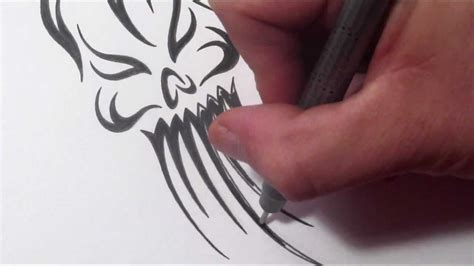 evil tribal tattoos how to draw an evil tribal skull ghost design