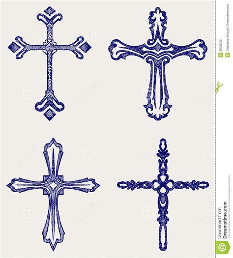 Religious Cross Design Collection Stock Image Image Religious Designs