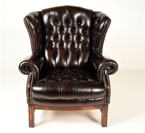 leather wing back chairs sinlgle vintage tufted leather wingback chair at 1stdibs