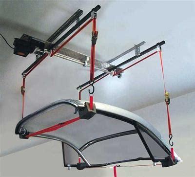 electric hardtop lift hoist garage organizer | corvette
