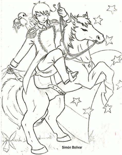dibujos para colorear d simon bolivar maestra erika valecillo sim 243 n bol 237 var para colorear ii