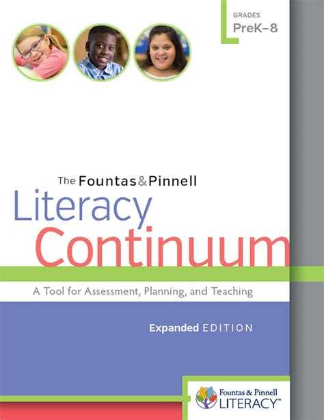 the fountas pinnell literacy continuum expanded edition a tool for assessment planning and teaching prek 8 the fountas pinnell literacy continuum expanded edition