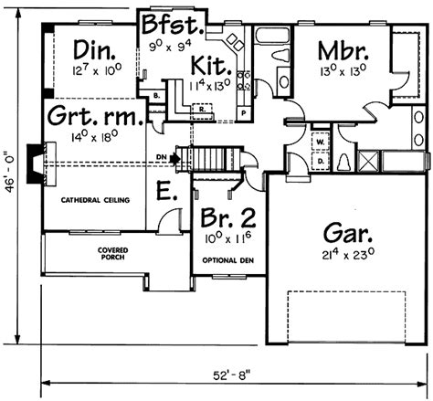 icf house plan 40834db 1st floor master suite cad