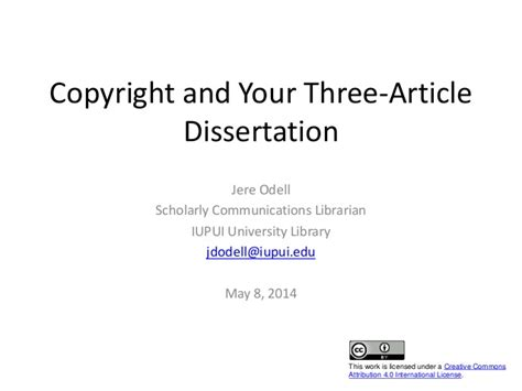 copyright dissertation copyright and your three article dissertation