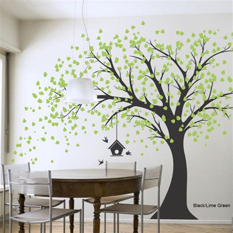 trees on wall windy tree wall decal i would paint or paste