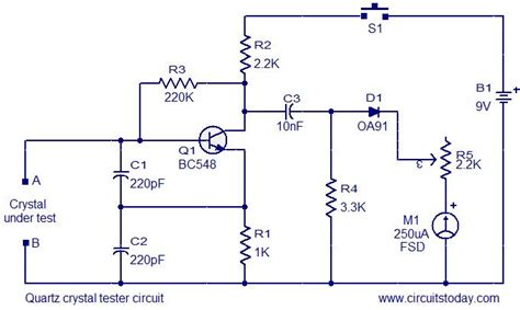 quartz diagram gt circuits gt quartz tester circuit l37214 next gr