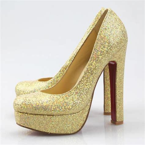 golden high heels superb gold glitter heels 2016