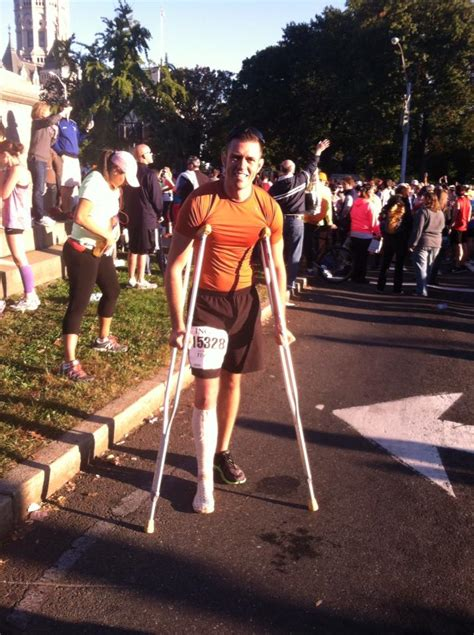 Joss On Crutches by Beth Shluger Hmf Events Hartford Marathon Foundation
