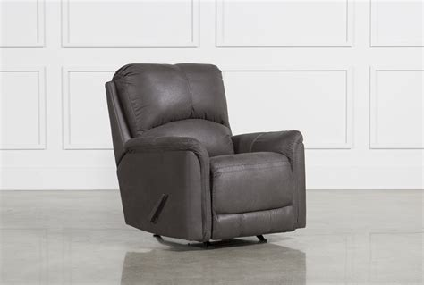 grey rocking recliner ranika grey rocker recliner living spaces