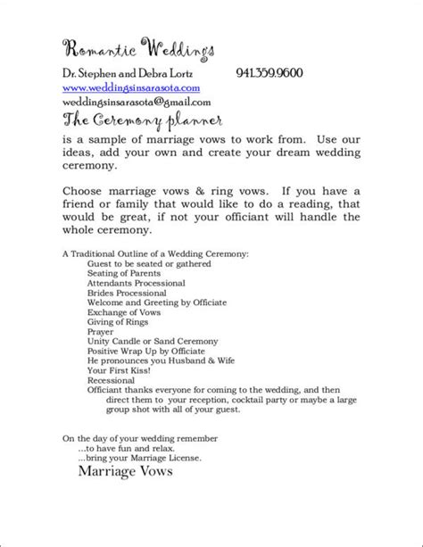 wedding program inclusions what to include in your wedding program