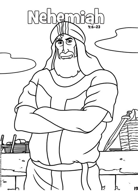 Nehemiah 8 Coloring Pages by Coloring Answers