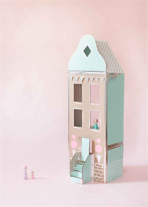 cardboard doll house plans for a dollhouse made of cardboard boxes woodworking projects plans