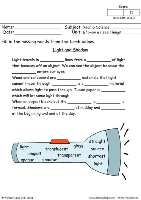 Waves Light And Sound Worksheet Answers