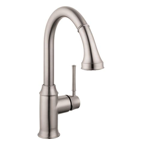 hansgrohe kitchen faucets hansgrohe talis c single handle pull sprayer kitchen faucet with magnetic spray