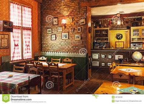 retro interior design cafe serbian restaurant editorial stock photo image 49738183