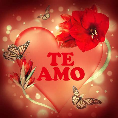 imagenes con frases de amor te amo coraz 243 n de amor con frase te amo y mariposas alrededor
