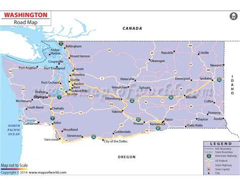 printed road maps buy printed washington road map