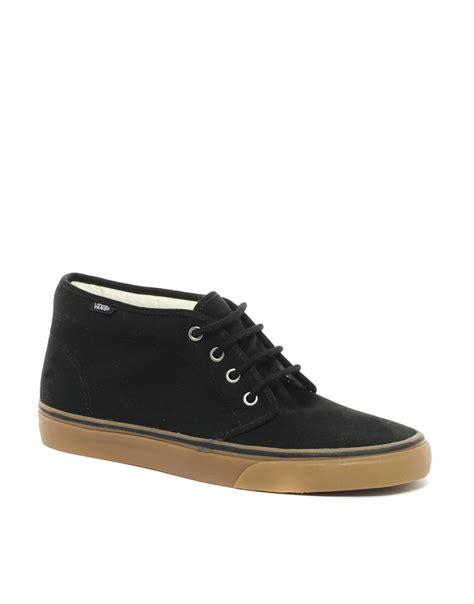 mens vans chukka boots vans gum sole chukka boots in black for lyst