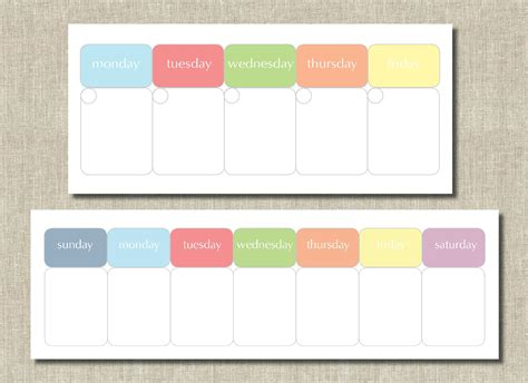 monday through saturday calendar template monday to sunday calendar template calendar template